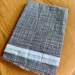 Other - Crosshatch black & white fabric